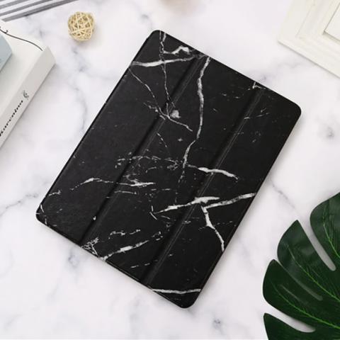 """Чехол Logfer с держателем для стилуса для iPad 2017 10.5"""" - мрамор черный"""