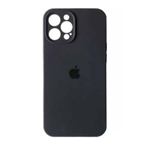 Силиконовый чехол с защитой для камеры для iPhone 12 Pro Max - Graphite
