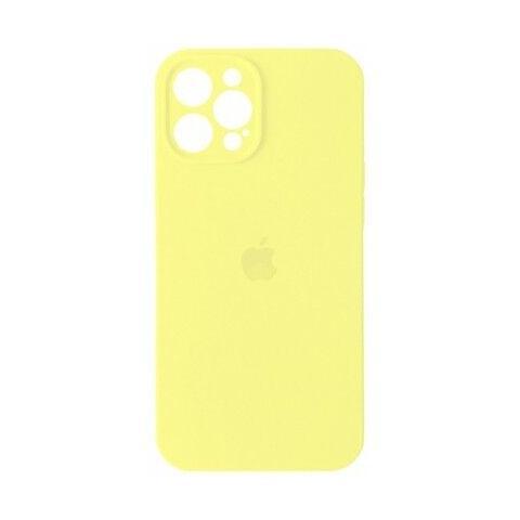 Силиконовый чехол с защитой для камеры для iPhone 12 Pro Max - Mellow Yellow