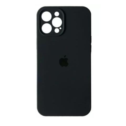 Силиконовый чехол с защитой для камеры для iPhone 12 Pro Max - Black