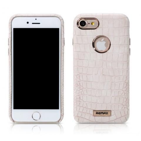 REMAX Maso Series Crocodile Leather Coated Hard Case for iPhone 7 Plus - White