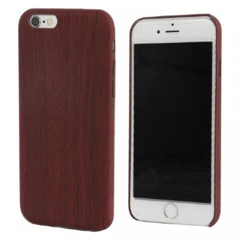 Чехол TPU Wooden Case for iPhone 6S/6 Dark Red