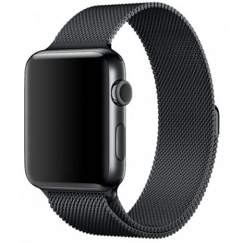 Ремешок Milanese Loop Black для Apple Watch 38/40 mm