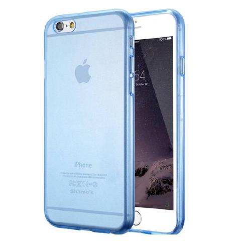 """Силиконовый прозрачный чехол для iPhone 6/6s (4.7"""") - голубой"""