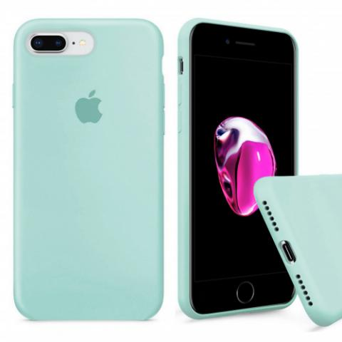 Full Silicone Case for iPhone 8 Plus/7 Plus - tiffany