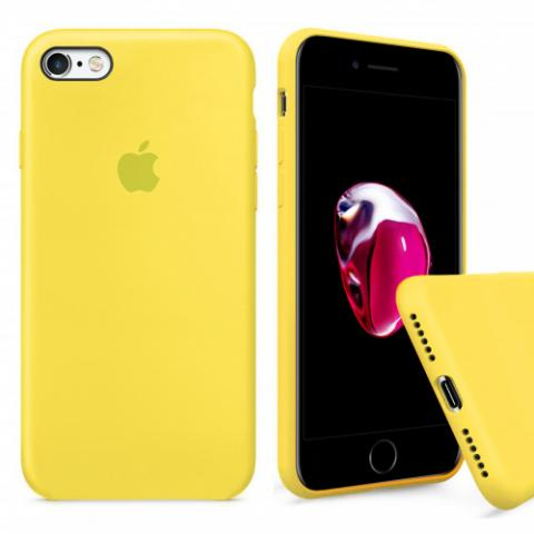 Чехол Full Silicone Case iPhone 6/6S - yellow