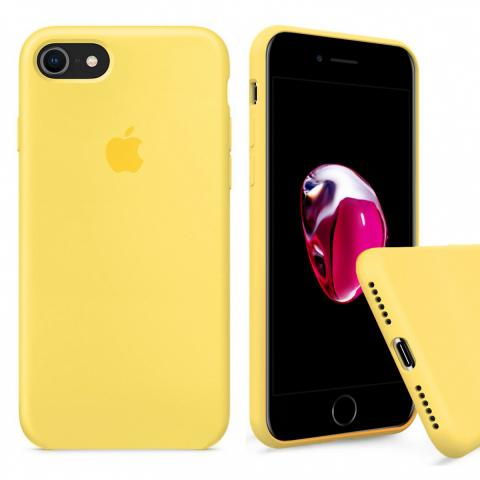 Full Silicone Case for iPhone 8/7 - Yellow