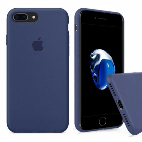 Full Silicone Case for iPhone 8 Plus/7 Plus - alaskan blue