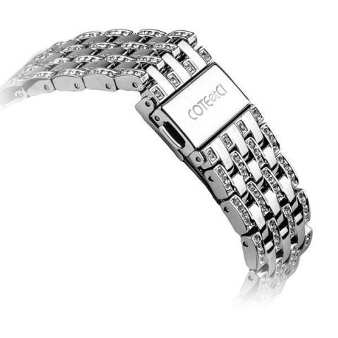 Ремешок для Apple Watch 38/40mm - COTEetCI W4 Magnificent серебристый