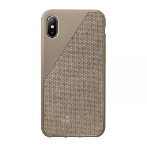 Чехол Native Union Clic Canvas Taupe for iPhone X (CCAV-TAU-CV-NP17)