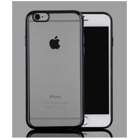 Силиконовый прозрачный чехол с окантовкой для iPhone 7 Plus - Black
