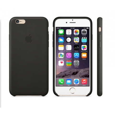 Чехол Apple Case for iPhone 6 Plus Leather Black (Copy)