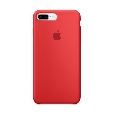 Apple Silicone Case for iPhone 7 Plus - Red (Hi-Copy)