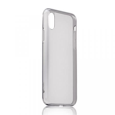 Ультратонкий чехол (TPU) Coteetci Ultra-thin полупрозрачный черный для iPhone X