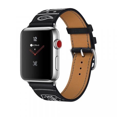 Кожаный ремешок COTEetCI W13 черный для Apple Watch 42/44mm