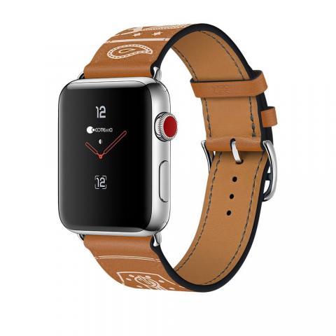 Кожаный ремешок COTEetCI W13 коричневый для Apple Watch 38/40mm