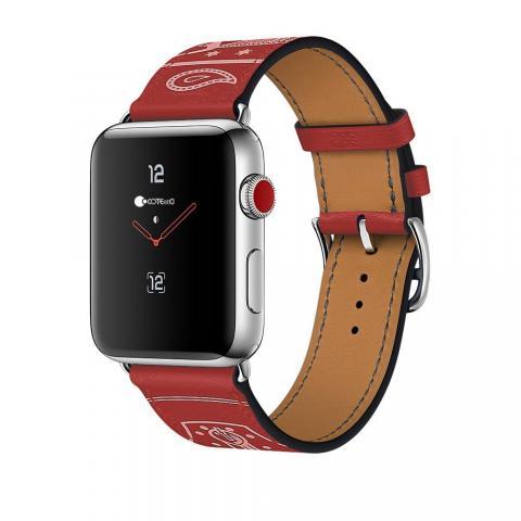 Кожаный ремешок COTEetCI W13 красный для Apple Watch 42/44mm