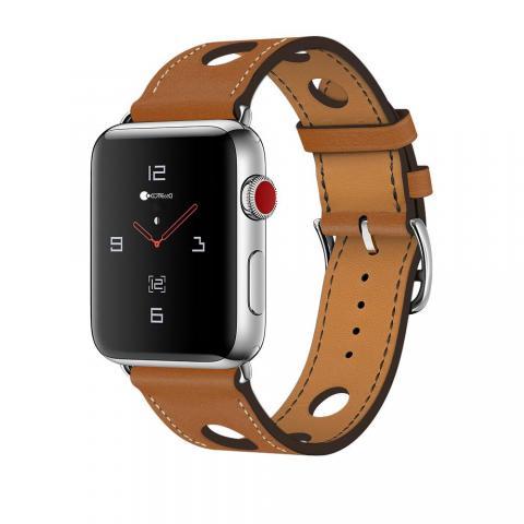 Кожаный ремешок COTEetCI W15 коричневый для Apple Watch 38/40mm