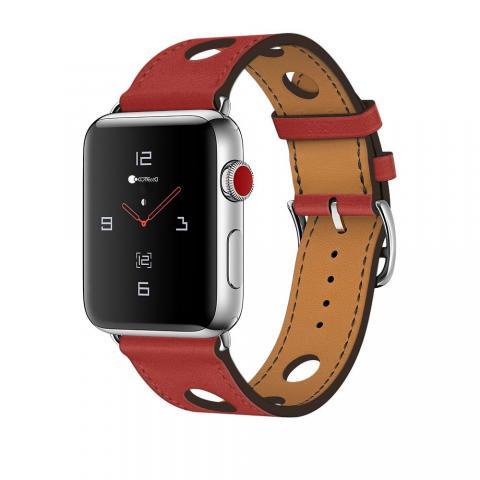Кожаный ремешок COTEetCI W15 красный для Apple Watch 42/44mm