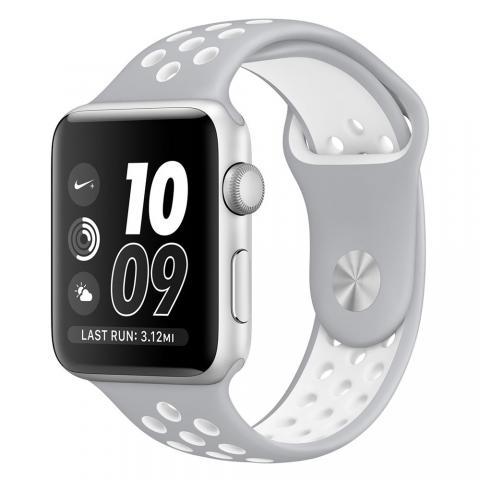 Ремешок Coteetci W12 Nike серый + белый для Apple Watch 42/44mm