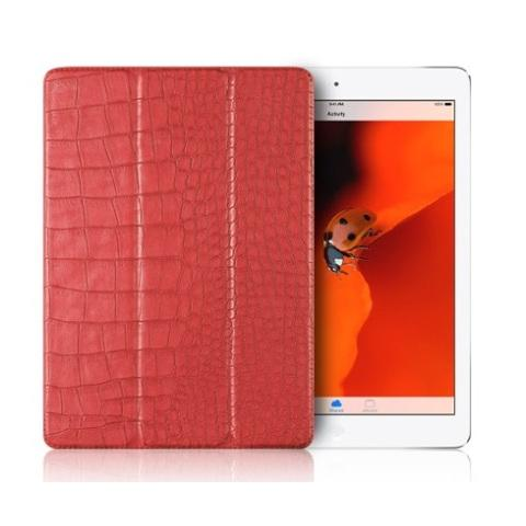 "Verus Crocodile Leather Case для iPad 9.7"" (2017/2018) (пленка в подарок) - Pink"
