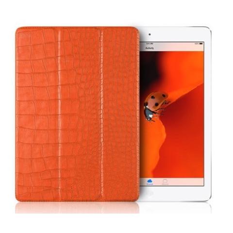 "Verus Crocodile Leather Case для iPad 9.7"" (2017/2018) (пленка в подарок) - Orange"