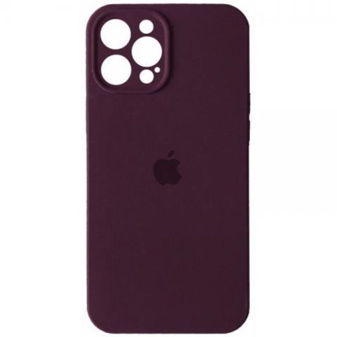 Силиконовый чехол с защитой для камеры для iPhone 12 Pro Max - Plum