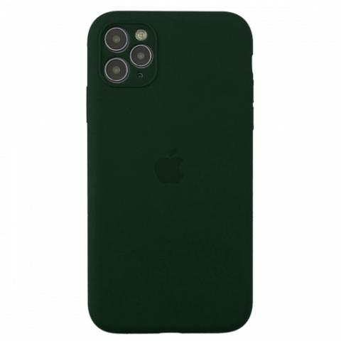 Чехол Silicone Case Full Camera для iPnone 11 Pro - Forest Green