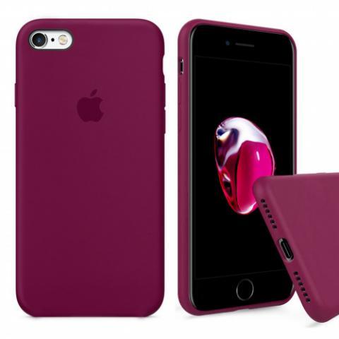 Чехол Full Silicone Case iPhone 6/6S - marsala