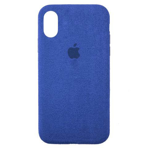 Чехол ALCANTARA для iPhone XR Denim Blue