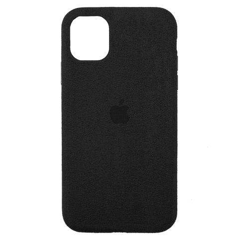 Чехол Alcantara для iPhone 12 Pro Max - Black