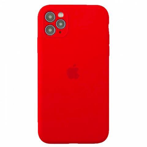Чехол Silicone Case Full Camera для iPnone 11 Pro Max - Red