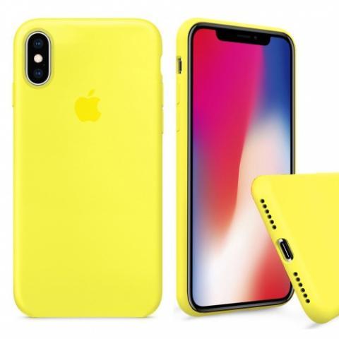 Чехол Full Silicone case для iPhone X/XS - Yellow