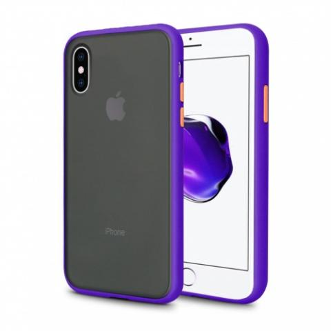 Противоударный чехол AVENGER для iPhone XS Max - Purple/Orange
