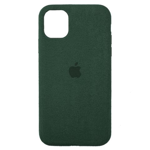 Чехол Alcantara для iPhone 12/12 Pro - Forest Green