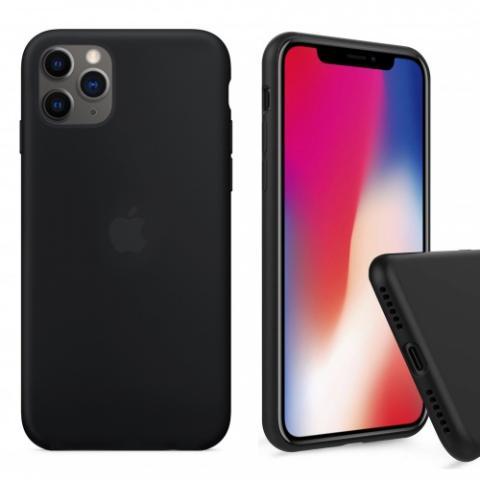 Чехол Full Silicone case для iPhone 11 Pro Max - Black