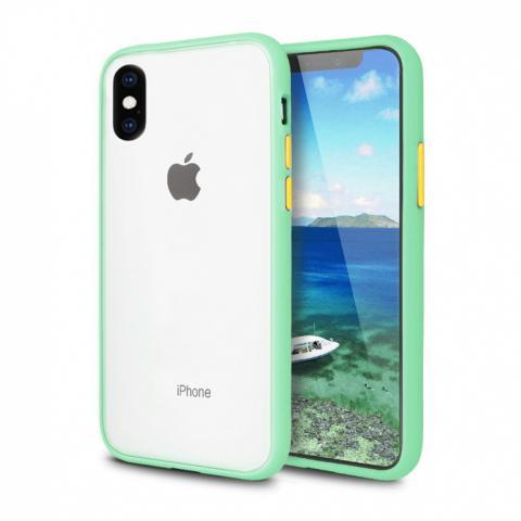Противоударный чехол AVENGER для iPhone XS Max - Mint/Yellow