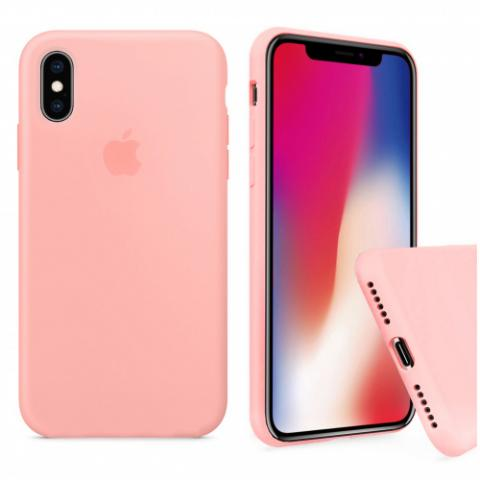 Чехол Full Silicone case для iPhone X/XS - Grapefruit