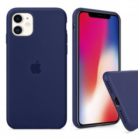 Чехол Full Silicone case для iPhone 11 - Midnight Blue