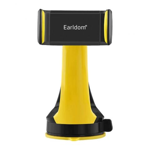 Earldom GPS Mobile Phone Universal Car Holder 360 Degree Rotation - Yellow & Black