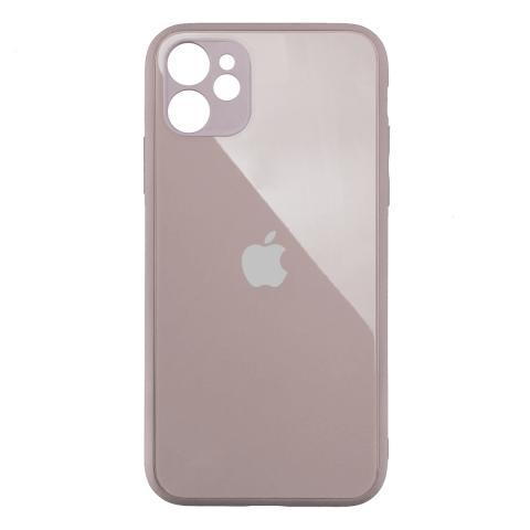 Стеклянный чехол с защитой для камеры для iPhone 11 Pink Sand