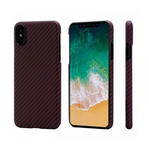 Сверхпрочный чехол для iPhone X Pitaka Aramid Case Red (KI8001)