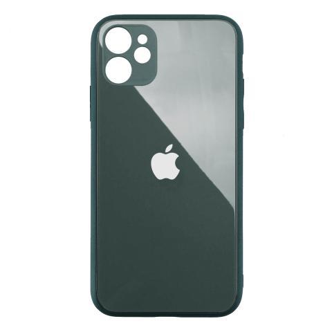 Стеклянный чехол с защитой для камеры для iPhone 11 Forest Green