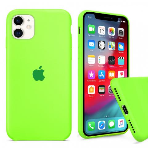 Чехол Full Silicone case для iPhone 11 - Party green