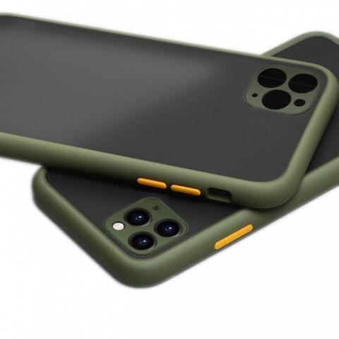 Противоударный чехол HULK с защитой для камеры для iPhone 11 Pro Max - Khaki/Yellow