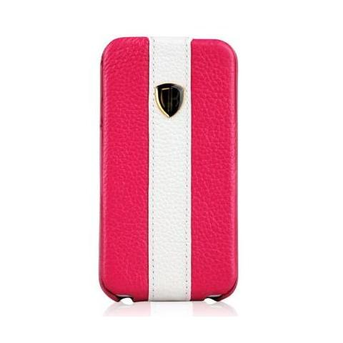 Чехол Nuoku rock luxury для iPhone 4/4s - pink