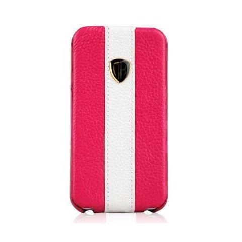Чехол Nuoku rock luxury для iPhone 4/4s - pink