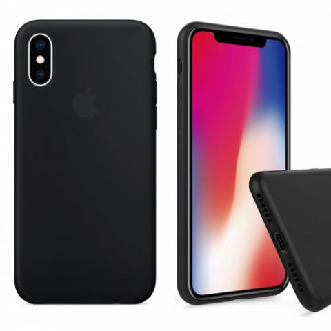 Чехол Full Silicone case для iPhone X/XS - Black