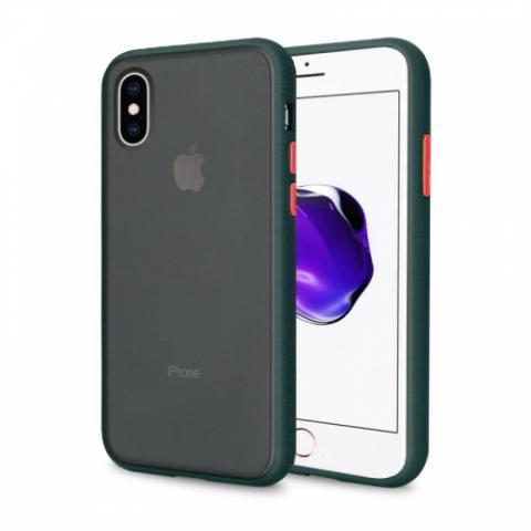Противоударный чехол AVENGER для iPhone XS Max - Forest Green/Orange