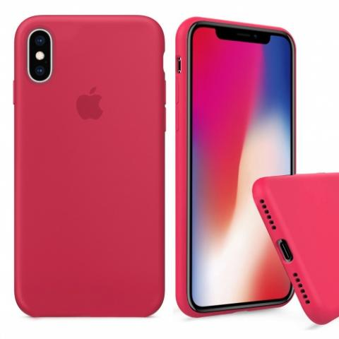 Чехол Full Silicone case для iPhone X/XS - Rose Red
